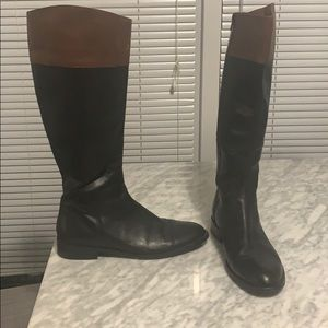 Saks Fifth Avenue Italian leather riding boot NEW